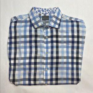 THOMAS DEAN XXLT Casual Dress Shirt